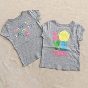 Free With Purchase Two Carter Girl's Tees 5T